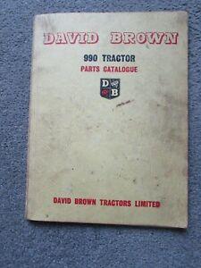 @David Brown 990 Tractor Parts Catalogue-Original@