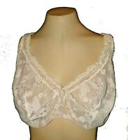 Bra Cacique, Underwire Not-padded Lace Side-support Boning Wide-Straps 46DDD