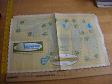 Inglewood CA Golf Course paper place mat layout map folded 1960s VINTAGE