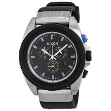 Nixon Rover Midnight GT Black Rubber Chronograph Mens Watch A2901529