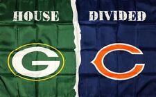 Green Bay Packers vs Chicago Bears House Divided Flag 3x5 ft NFL Sports Banner