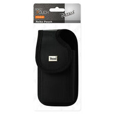 Reiko Black Belt Clip Holster Cellphone Pouch fits otterbox defender Vertical