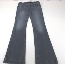 *REFUGE* SIZE 6/8 LONG WOMEN'S STRETCHY BOOT CUT 98% COTTON MEDIUM BLUE JEANS