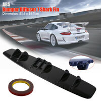 "New 33"" x 5"" Lower Rear Body Bumper Diffuser Shark 7 Fin ABS Spoiler Universal"