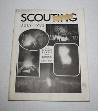 Scouting Magazine 1933 July Issue Camp Fires Burning Photos Cover