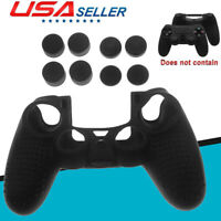 Anti-slip Silicone Skin Case + Thumb Grips fits PS4/Slim/Pro Controller US Stock