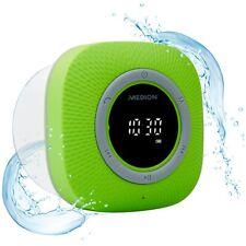 MEDION P66096 Duschradio Badradio Display Saugnapf Bluetooth 30W IPX6 grün
