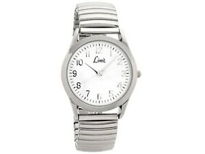 Limit Mens Expanding Bracelet Watch with White Dial 5988