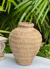 Miniature Dollhouse Fairy Garden Accessories ~ Large Brown Vase Planter Pot