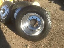 Alloy Alux TRUCK TRAILER polished wheels .new low profile tyres FITTED