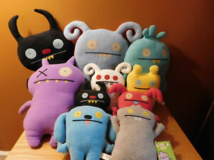 """Lot of 10 UGLY DOLL Stuffed Plush Toys 12"""" Display Gently Used Cute Dolls"""