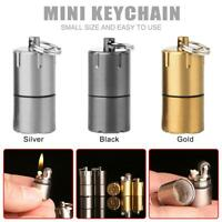 Key Chain Mini Torch Lighter Compact Kerosene Gasoline Inflated Keychain· q2w