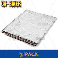 5x Sound Proof Deadener Block Mat Car Heat Shield Insulation Lower Fairing Cover