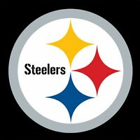 "Pittsburgh Steelers NFL Color Vinyl Decal Sticker_ Choose size 3 "" -28"" PVG"