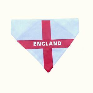 England Euro Euros Football Dog Bandana St George Flag Slip on Collar Neck Tie