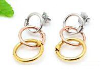 New Women's Stainless steel Hollow Round Bear Earrings