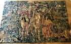 """51 X 77"""" WOVEN TAPESTRY MADE IN FRANCE REIGNY TAG. Charles 6th In Forest"""