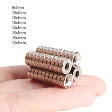 Neodym Magnete N35 Mit Loch Bohrung 8mm 10mm 12mm 15mm Senkung Magnetscheiben