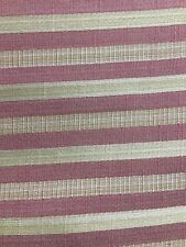 PINK COPPER GOLD STRIPED UPHOLSTERY DRAPERY BROCADE FABRIC (54 in.) Sold BTY