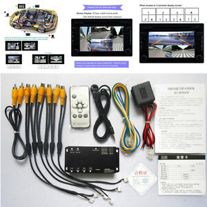 360° Car Parking View 4 Camera Image Quad Ways Video Monitoring With Control Box