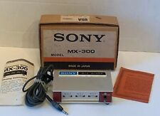 SONY MIC MIXER MX 300 for 3 Microphones VINTAGE mic w Original Box Untested Vtg