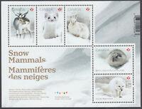 Canada  - *NEW* Snow Mammals Souvenir Sheet - 2021 - MNH