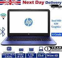 "HP 15-ay167sa 15.6"" Laptop Intel 7th-Gen i5 2.50Ghz DDR4 8GB RAM 1TB HDD Win-10"