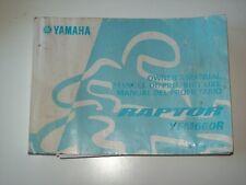 Manuel du propriétaire , notice utilisation de 2000 - quad YAMAHA Raptor YFM660R