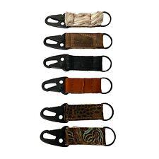 Heavy Duty HK Crocodile Leather Keychain / Key Fob MADE IN USA