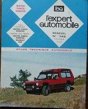Neuf de stock !! Revue technique MATRA SIMCA RANCHO 1442 cm3 AUTOMOBILE 140 1976