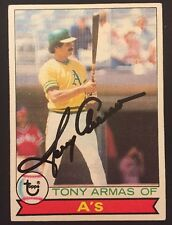 Autographed 1979 Topps Tony Armas Sr Oakland A's 507
