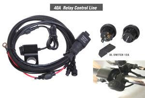 40A Motorcycle Spotlight Switch Control Line Relay Set for Honda Yamaha Kawasaki