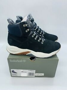 Timberland Women's Delphiville High-Top Sneaker Boot - Black Nubuck US 8.5