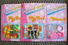 NEW GLORIA DOLLHOUSE FURNITURE Size Vegetable + Fridge Food + Utensil For Dolls