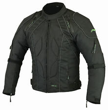 Mens RIDEX Cj2 Motorbike Motorcycle Jacket Windproof/ Waterproof With CE Armours Large