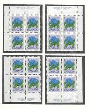 pk31249:Stamps-Canada #705 Bottle Gentian 1 ct Set of Plate Blocks-MNH