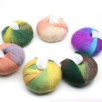 1Ball 50g Hand-woven Rainbow Colorful Crochet Knitting Wool Blend Yarn