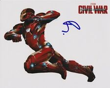 ROBERT DOWNEY JR. Signed Autographed CAPTAIN AMERICA CIVIL WAR IRON MAN Photo