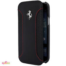 Ferrari Ultrafina Cuero Libreta Funda Samsung Galaxy S4 Mini Color Negro