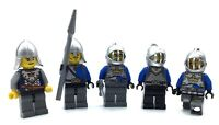 LEGO LOT OF 5 CROWN KNIGHT MINIFIGURES CASTLE SOLDIERS MEDIEVAL KINGDOMS FIGS