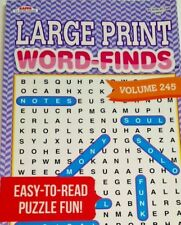 "LARGE PRINT FIND A WORD WORD HUNT SEARCH A WORD PUZZLE BOOK ""MADE IN USA"""
