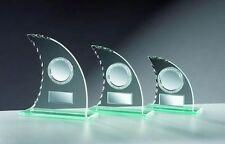 3er-Serie Glas-Pokale Segel (für über 60 Sportarten verfügbar) mit Wunschgravur