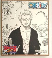 One Piece Mini Autograph Roronoa Zoro Jump Fair 2017 Limited Anime NFS F/S