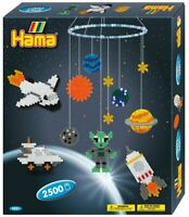 Hama Beads Space Mobile Making Craft Set - 2500 Midi Ironing Beads for Children