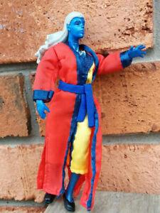 Everquest FEMALE DARK ELF MAGICIAN SPELLCASTER Blue ToyVault SCEA with Robe