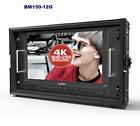 "LILLIPUT15.6"" BM150-12G 12G-SDI 4 X 4K HDMI Broadcast Director Monitor Gold mo"