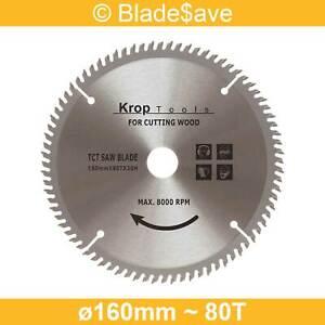DeWalt Circular Saw Blade Fine Cut TCT 160mm x 16/20mm x 80T by KROP