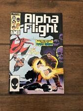 "Alpha Flight Marvel Comic Book #31 ""Deadly Ernest"" February 1986 VF"