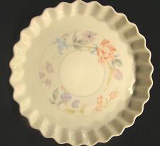 Quiche Dish American Limoges Floral Porcelain Microwave & Oven Safe #7