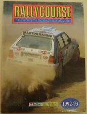Rallycourse Annual 1992-93  Edition No. 11 in good condition with a dust wrapper